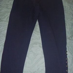 Navy Blue Pants W/ankle detail
